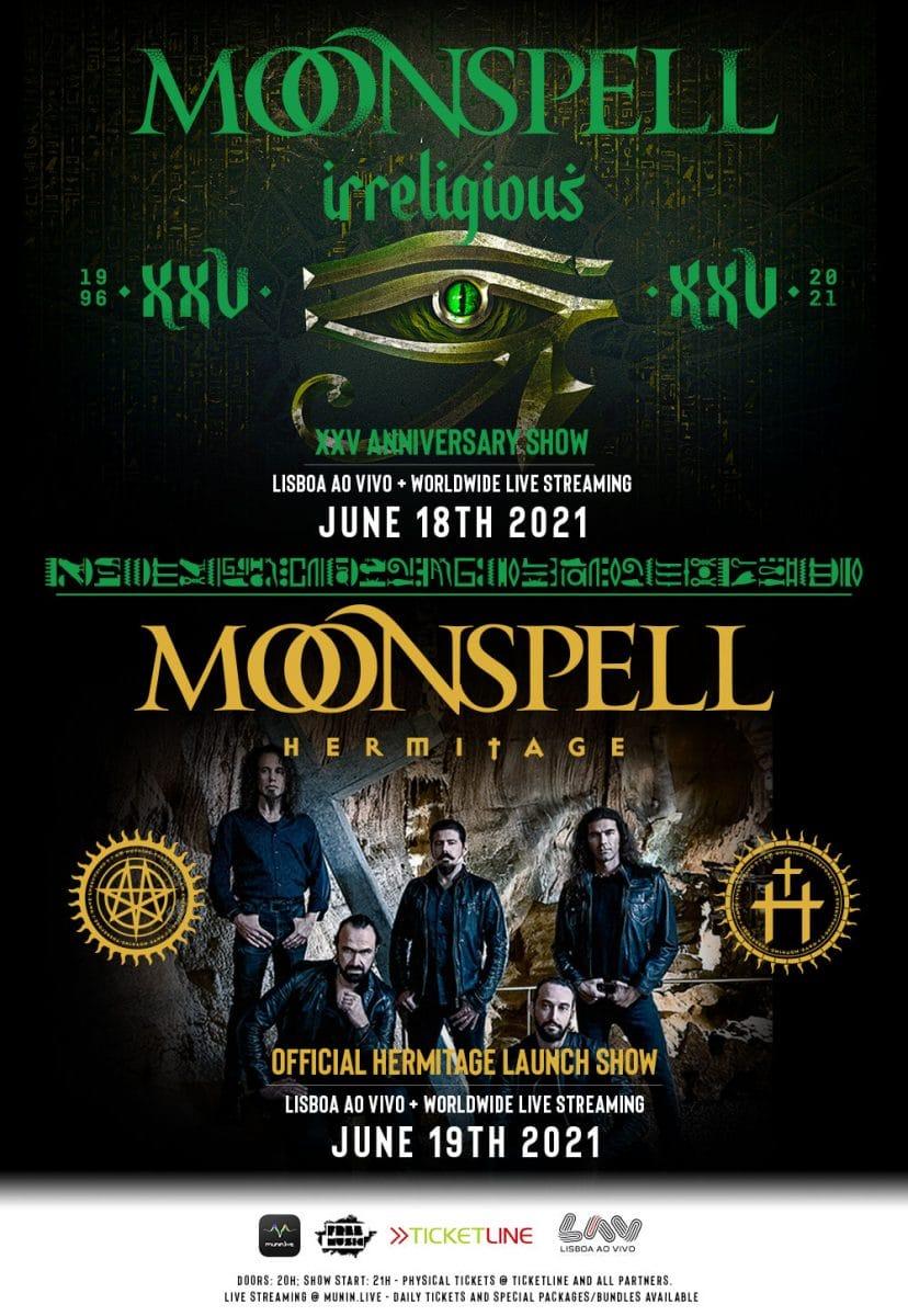 Moonspell : Oubliez le Fado, cap sur le Dark Heavy Metal lusitanien (guide d'écoute/à découvrir)