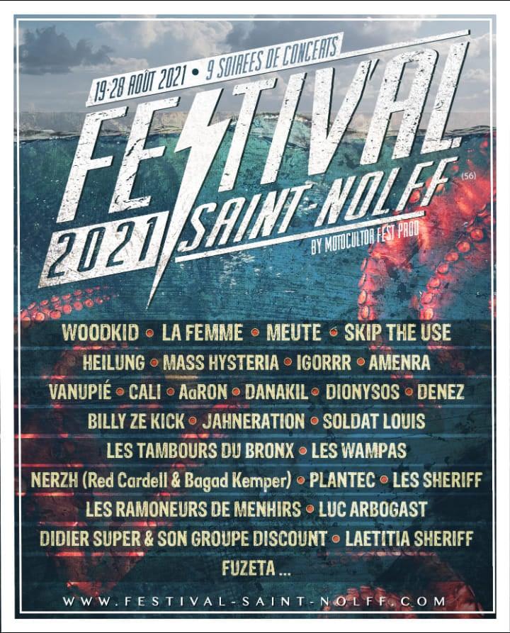 Le Motocultor Festival dévoile l'affiche complète de son édition 2021