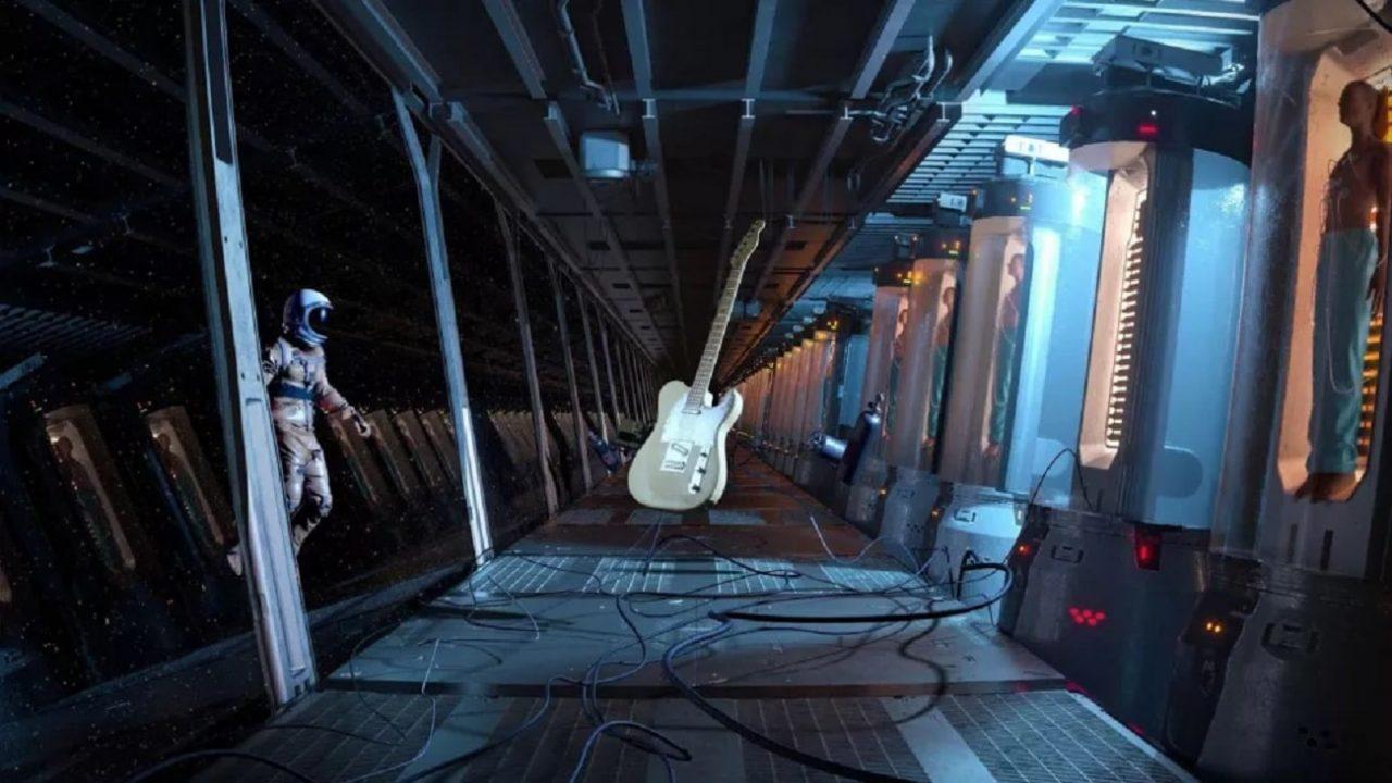 """Matt Bellamy de Muse a réalisé un NFT en utilisant la Fender Telecaster """"Grace"""" de Jeff Buckley - et il s'est vendu pour 26 000 $"""