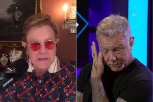 James Hetfield de Metallica ému aux larmes par les louanges d'Elton John