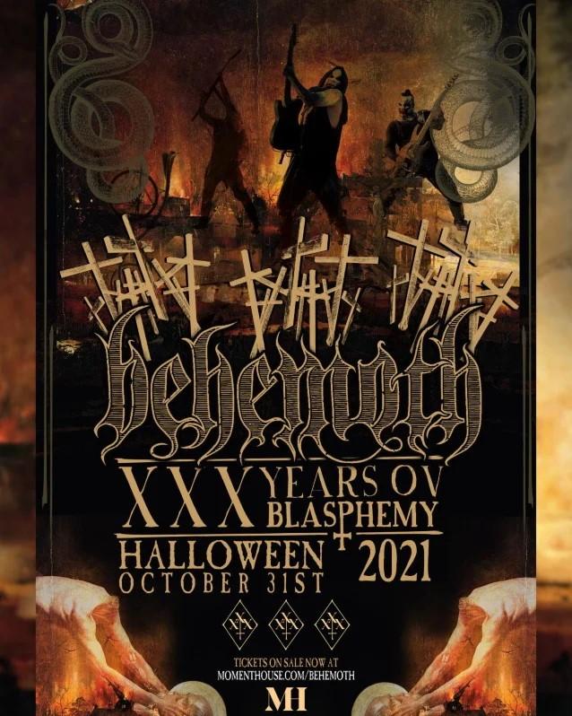 Behemoth annonce son livestream en l'honneur de son 30e anniversaire, XXX Years Ov Blasphemy !
